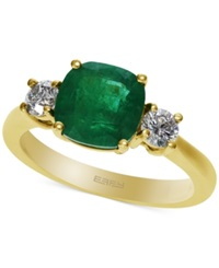 Effy Collection Emerald Envy By Effy Emerald 1 3 4 Ct. T.W. And Diamond 3 8 Ct. T.W. Ring In 14K Gold Green