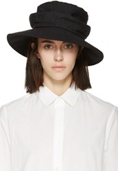Y's Black Linen Bucket Hat