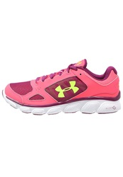 Under Armour Micro G Assert V Cushioned Running Shoes Pink Shock White Xray