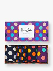 Happy Socks Dot Gift Box One Size Pack Of 4 Multi