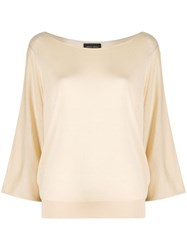 Roberto Collina Draped Fitted Jumper 60