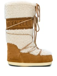 Moon Boot Shearling Boots Brown