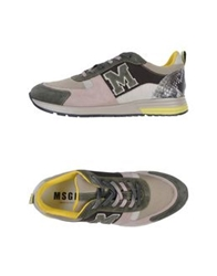Msgm Low Tops And Trainers Military Green