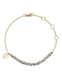 Meira T 14K Yellow Gold Bracelet With Labradorite Gray Gold