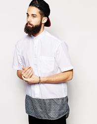 The Ragged Priest Shirt With Grandad Collar White