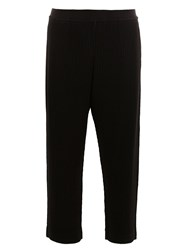 Homme Plisse Issey Miyake Cropped Pleated Trousers Black