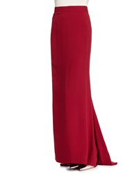 J. Mendel Floor Length Column Skirt Ruby Red
