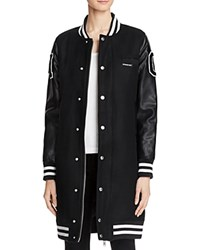 Members Only Long Varsity Jacket 100 Bloomingdale's Exclusive Black