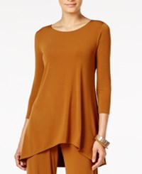 Alfani High Low Jersey Tunic Top Only At Macy's Brushed Sienna