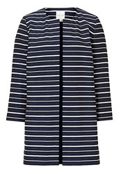 Betty And Co. Striped Coat Blue