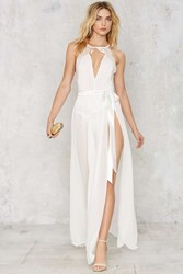 Nasty Gal Jump Maxi Sheer Skirt White