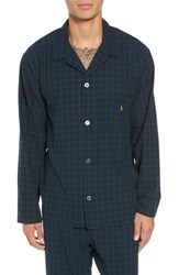 Ralph Lauren Men's Polo Flannel Pajama Shirt Cruise Navy Blackwatch Red