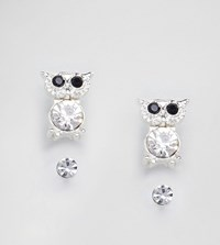 Johnny Loves Rosie 2 Pack Stud With Owl Silver