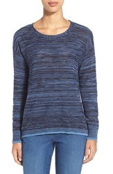 Women's Two By Vince Camuto Marled Crewneck Sweater Obsidian