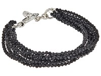 King Baby Studio 8 Strand Spinel Bracelet W Mini Toggle Clasp Silver
