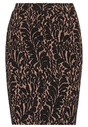 Anna Field Pencil Skirt Black Camel