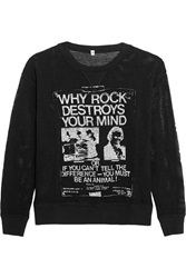 R 13 Destroy Printed Open Knit Cotton Top