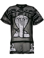 Ktz Cobra Embroidered Oversized T Shirt Unisex Cotton L Black
