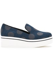 Stella Mccartney Polka Dot Binx Loafers Women Polyester Polyurethane 38 Blue