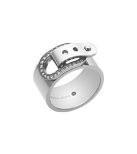 Michael Kors Silver Tone Buckle Ring