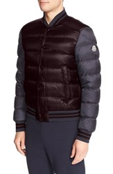 Moncler Men's 'Bardford' Channel Quilted Down Baseball Jacket