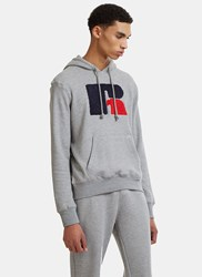 Russell Athletic Eagle R Chenille Patch Hooded Sweater Grey
