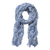 Betty Barclay Abstract Print Scarf Blue White