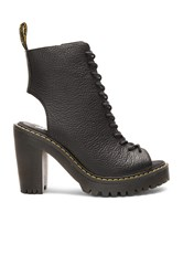 Dr. Martens Carmelita Open Heel Lace Up Boot Black