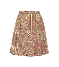 Etro Printed Wool Skirt Multicoloured