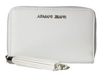 Armani Jeans Bifold Wallet With Tassle Detail White