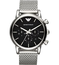Emporio Armani Ar1811 Luigi Stainless Steel Chronograph Watch Black