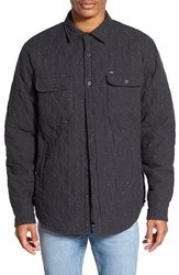 Men's Obey 'Lister' Quilted Shirt Jacket