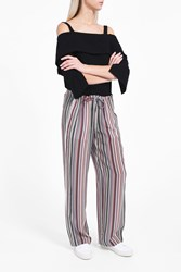 Theory Women S Striped Drawstring Trousers Boutique1 Multi
