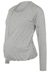 Bellybutton Siska Long Sleeved Top Light Grey Mottled Grey