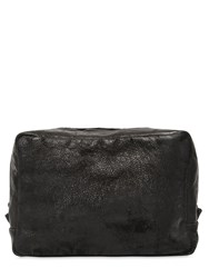 The Last Conspiracy Zip Around Embossed Leather Toiletry Bag Black