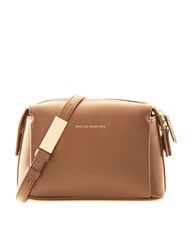 Want Les Essentiels Mocha Leather City Cross Body Bag Brown