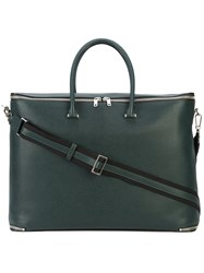 Valextra Structured Holdall Green
