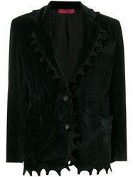 Di Liborio Crushed Velvet Look Blazer Black