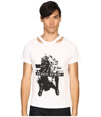 The Kooples Washed Jersey Tee White Women's T Shirt