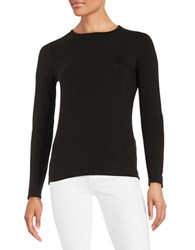 Lord And Taylor Crewneck Tee Black