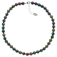 Finesse Glass Pearl Necklace Green Purple