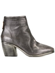 Marsell Rear Zip Ankle Boots Metallic