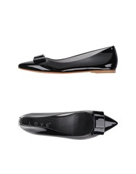 Love Footwear Ballet Flats Women Black