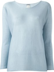 Kristensen Du Nord Sheer Knit Sweater Blue