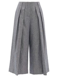 Max Mara Weekend Olato Trousers Navy White