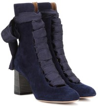 Chloe Harper Suede Boots Blue