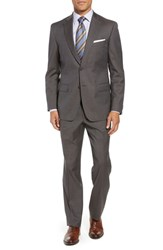John W. Nordstrom Traditional Fit Check Wool Suit Brown