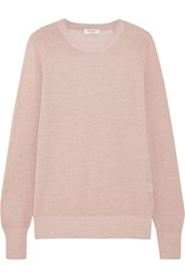 Equipment Sloane Metallic Wool Blend Sweater Pastel Pink