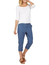 Fat Face Lulworth Chino Cropped Trousers Bluebell