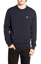 Psycho Bunny Men's Pima Cotton Crewneck Sweater Navy
